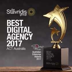 canberra web designer award